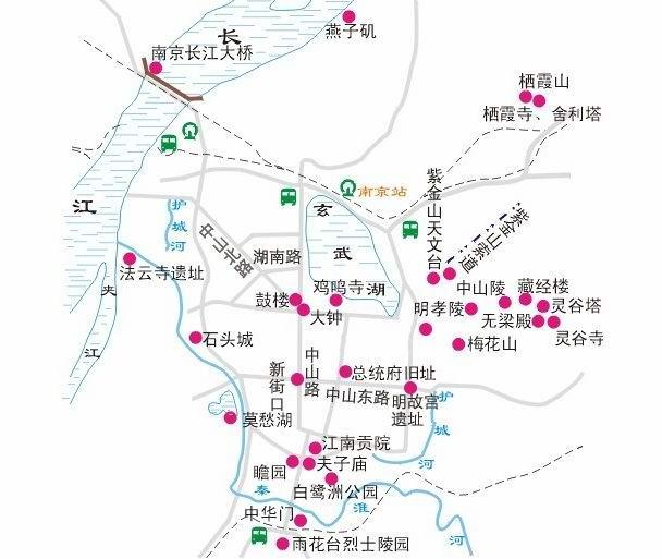 南京旅游地图_南京电子地图